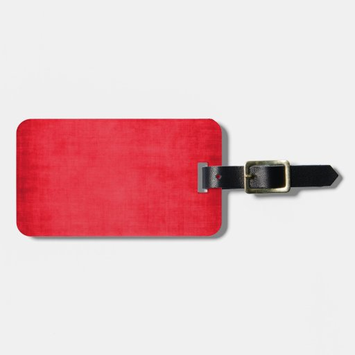 547 SOLID COZY WINTER RED TEXTURED TEMPLATES DIGIT TRAVEL BAG TAG