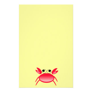 5486-red-crab-vector RED CRAB  CARTOON VECTOR CUTE Customized Stationery