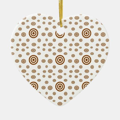 548 Cute Dot Double Sided Heart Ceramic