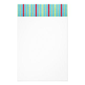 549 blue-striped-paper BLUE STRIPES HOT PINK PASTE Stationery