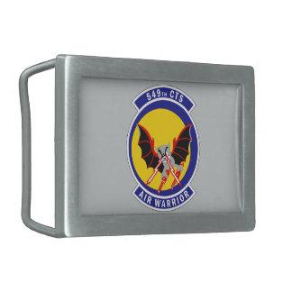549th Combat Training Squadron - Air Warrior Rectangular Belt Buckle