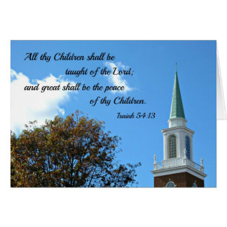 54:13 de Isaías enseñarán todos thy niños… Tarjeta De Felicitación