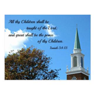 54:13 de Isaías enseñarán todos thy niños… Tarjeta Postal
