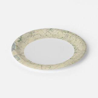 54 Areas irrigated 1889 Paper Plate