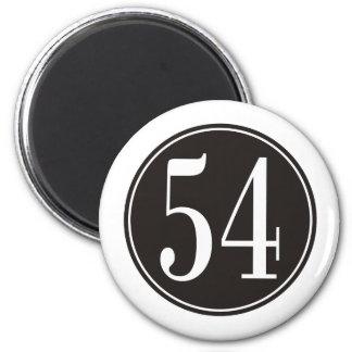 #54 Black Circle 2 Inch Round Magnet