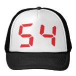 54 cincuenta y cuatro números digitales del desper gorro de camionero