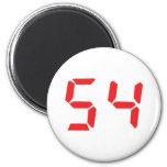 54 cincuenta y cuatro números digitales del desper imán para frigorifico