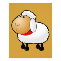 54-Free-Cartoon-Sheep-Clipart-Illustration Flyer