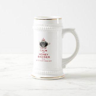 [54] Keep Calm or Honey Badger… Beer Stein
