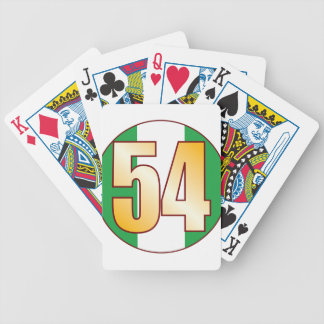 54 NIGERIA Gold Bicycle Playing Cards