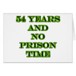 54 ninguna hora de prisión felicitación