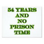 54 ninguna hora de prisión invitación 10,8 x 13,9 cm