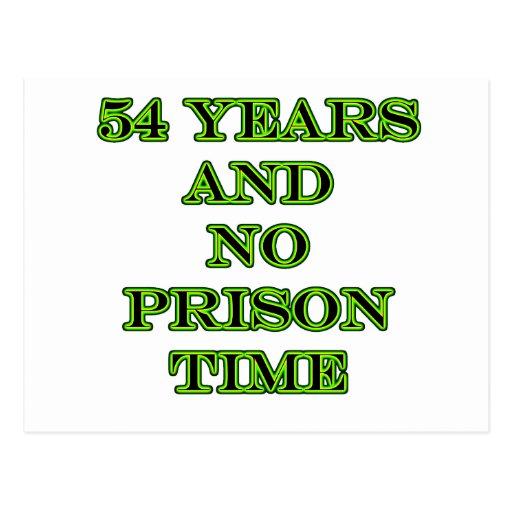 54 ninguna hora de prisión postal
