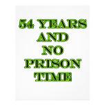 54 ninguna hora de prisión tarjetas informativas