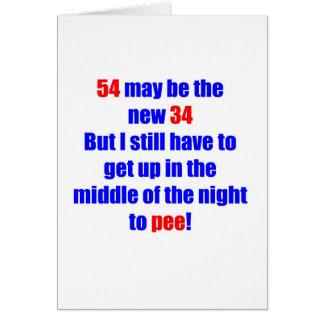 54 nuevos 34 tarjeta de felicitación