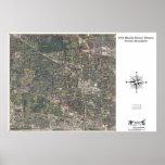 54.o Distrito de la casa de Illinois - mapa aéreo Poster