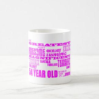 54.os cumpleaños cincuenta y cuatro más grande ros taza de café