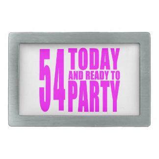 54.os cumpleaños de los chicas: 54 hoy y aliste hebillas de cinturón rectangulares
