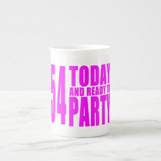 54.os cumpleaños de los chicas: 54 hoy y aliste tazas de porcelana