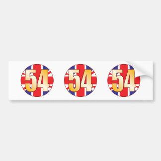 54 UK Gold Bumper Sticker