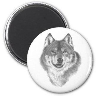 54  Wolf 2 Inch Round Magnet