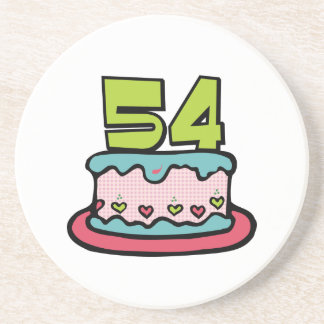 54 Year Old Birthday Cake Coaster
