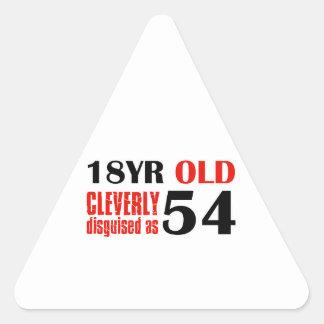 54 year old designs triangle sticker