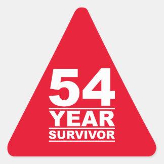 54 year survivor triangle sticker