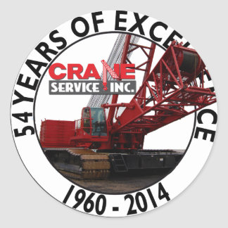 54 Years of Excellence Classic Round Sticker