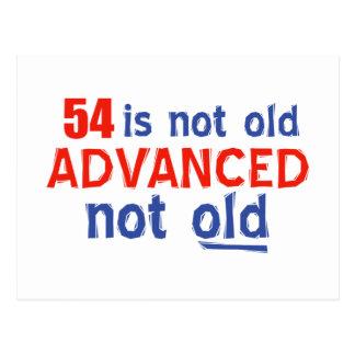 54 years Old birthday designs Postcard