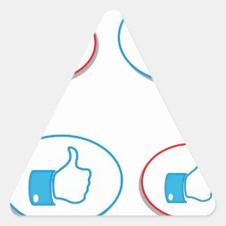 54button triangle sticker