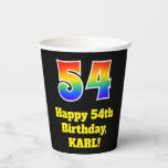 [ Thumbnail: 54th Birthday: Colorful, Fun, Exciting, Rainbow 54 ]