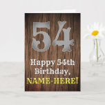 [ Thumbnail: 54th Birthday: Country Western Inspired Look, Name Card ]