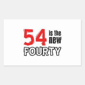 54th birthday designs rectangular sticker