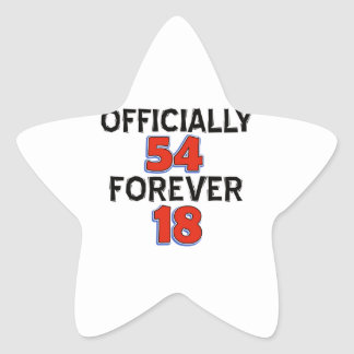54th birthday designs star sticker