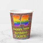 [ Thumbnail: 54th Birthday: Fun Graffiti-Inspired Rainbow 54 ]
