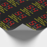 """[ Thumbnail: 54th Birthday: Red Digital Clock Style """"54"""" + Name Wrapping Paper ]"""