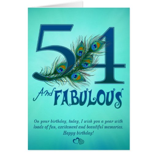 54th birthday template cards zazzle