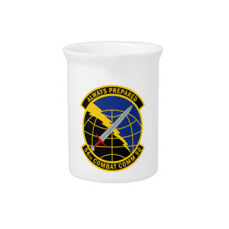 54th Combat Communications Squadron Drink Pitcher