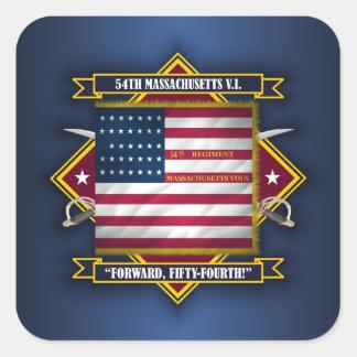 54th Massachusetts V.I. Square Sticker