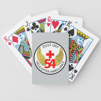54th Medical Detachment - Dust-Off - Helicopter Am Bicycle Playing Cards