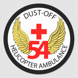 54th Medical Detachment - Dust-Off - Helicopter Am Classic Round Sticker