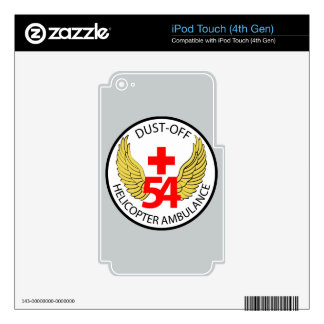 54th Medical Detachment - Dust-Off - Helicopter Am Decal For iPod Touch 4G