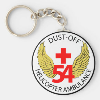 54th Medical Detachment - Dust-Off - Helicopter Am Keychain