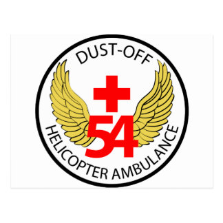 54th Medical Detachment - Dust-Off - Helicopter Am Postcard