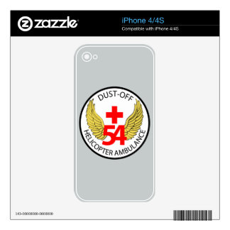 54th Medical Detachment - Dust-Off - Helicopter Am Decal For The iPhone 4