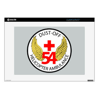 """54th Medical Detachment - Dust-Off - Helicopter Am Skins For 15"""" Laptops"""
