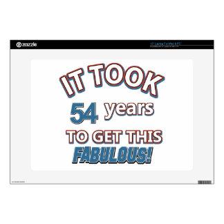 "54th year birthday designs 15"" laptop skin"