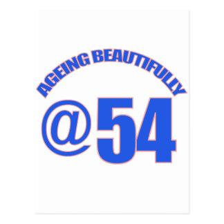 54TH year old designs Postcard