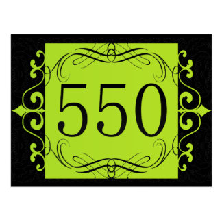 550 Area Code Post Cards